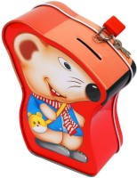 Ollington St. Collection Coin Box - Mouse Coin Bank (Red)