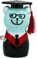 Tootpado Cute Bear Shape Toy Piggy Kiddy - Graduation Coin Bank Cyan
