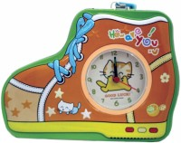 Tootpado Shoe Shaped Metal Piggy Bank with Clock & Alarm Coin Bank Orange