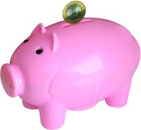 Buddyz Pig-Shaped Coin Bank Pink