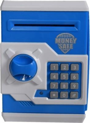 Tara Lifestyle Money Safe Atm Machine-Blue Coin Bank