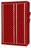 MSE Stainless Steel Collapsible Wardrobe (Finish Color - Red) - CWDEM4GZVVXKKCME