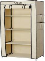 Yutiriti Fancy & Portable Aluminium Collapsible Wardrobe (Finish Color - Cream) - CWDEK9SG6GBYSF7N