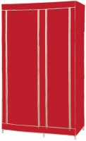 MSE Jute Collapsible Wardrobe (Finish Color - Red) - CWDEMGYMHHD9HVSY