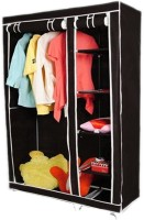 Pindia Fancy & Portable Aluminium Collapsible Wardrobe (Finish Color - Brown-Wardrob)