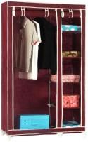 Pindia Fancy & Portable Aluminium Collapsible Wardrobe (Finish Color - Maroon -wardrobe)