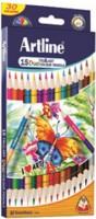 Artline Tri Art Duo 15 Round Shaped Color Pencils (Set Of 1, Multicolor)