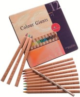 Stockmar 12 Giants Traingular Shaped Color Pencils (Set Of 1, Carmine Red, Vermilion, Orange, Golden Yellow, Lemon Yellow, Yellow Green, Green, Blue, Red Violet, Rust, Yellow Brown, Prussian Blue)