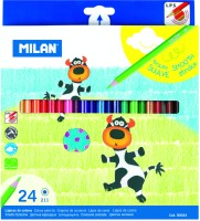 Milan 12 Shades Hexagonal Shaped Color Pencils (Set Of 1, Multicolor)