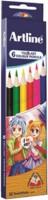 Artline Tri-art 6 Round Shaped Color Pencils (Set Of 1, Multicolor)