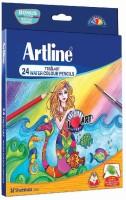 Artline Tri- Art Water Triangular Shaped Color Pencils (Set Of 24, Multicolour)