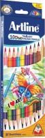 Artline Tri- Art Duo Triangular Shaped Color Pencils (Set Of 10, Multicolour)