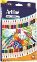 Artline Tri Art Duo 20 Round Shaped Color Pencils (Set Of 1, Multicolor)