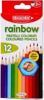 Fibracolor Rainbow Color Triangular Shaped Color Pencils (Set Of 1, Multicolor)