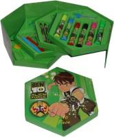Infinxt Ben 10 Triangular Shaped Color Pencils (Set Of 1, Green)