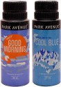 Park Avenue Park Avenue Cool Blue, Good Morning Pack Of 2 Deodorants Combo Set - Set Of 2