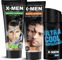X-men Combo Set Face Wash + Fairness Cream + Body Deodorant Combo Set (Set Of 3)