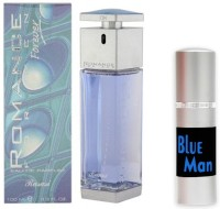 Rasasi Romance Man Perfume And Blue Man Combo Set (Set Of 2)