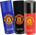 Manchester United Manchester United Deodorant Spray for Men Pack of 3 Combo Set - Set of 3