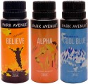 Park Avenue Park Avenue Believe, Alpha, Cool Blue Pack Of 3 Deodorants Combo Set - Set Of 3