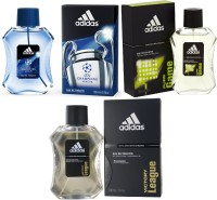 Adidas Pure Game Edt 100 Ml Champions League Edt 100 Ml And Victory League Edt For Men 100 Ml Gift Set  Combo Set (Set Of 3)