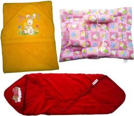 Xchildhood baby towel,wrapingshet and bed Combo Set