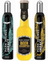 Park Avenue Icon,Regal And Dry Beer Shampoo Combo Set (Set Of 3)