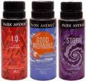 Park Avenue Park Avenue Good Morning, IQ, Storm Pack Of 3 Deodorants Combo Set - Set Of 3