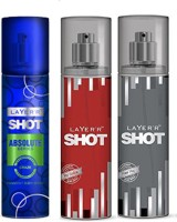 Layer'r Shot (Set Of 3) Red,Play,Craze Deodorants Pack For Men Combo Set (Set Of 3)