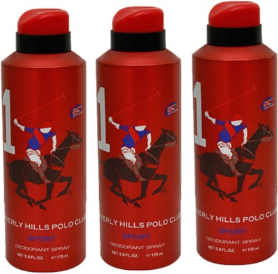 Beverly Hills Polo Club Sport Deodorant Spray Combo Set (Set Of 3)