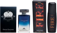 Vincent Valentine Paris Etoile DHomme Nuit Perfume & Dark Fire Perfume (100ml) Set Gift Set (Set Of 2)