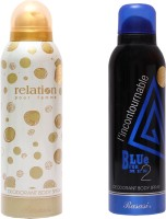 Rasasi Relation Women::Blue Incontournable Combo Set (Set Of 2)