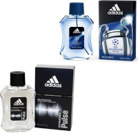Adidas Dynamic Pulse Edt 100 Ml And Champions League Edt For Men 100 Ml Gift Set  Combo Set (Set Of 2)