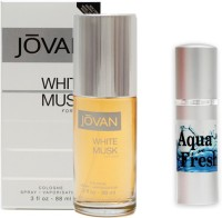 Jovan White Musk Perfume And Aqua Fresh Combo Set (Set Of 2)