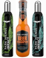 Park Avenue Sharp,Icon And Oily Beer Shampoo Combo Set (Set Of 3)