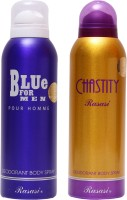 Rasasi Blue For Men::Chastity Women Combo Set (Set Of 2)