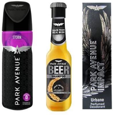 Park Avenue Combos Park Avenue Storm,Urbane,Anti Dandruff Beer Shampoo Combo Set