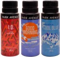 Park Avenue Park Avenue Cool Blue, Good Morning, IQ Pack Of 3 Deodorants Combo Set - Set Of 3