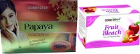 Coronation Herbal Combo Of Papaya Facial Kit With Fruit Bleach (Set Of 2)