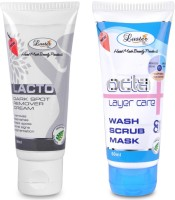 Luster Lacto Dark Spot Remover Cream & Octa Wash Scrub Mask - Instant Facial (Set Of 2) (Set Of 2)