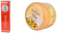 Clear Face Skinglow Cream With 24 Carat Gold Dust Almond Oil Massage Gel (Set Of 2)