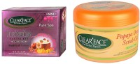 Clear Face Fruitwine Facial Kit With Papaya Orange Scrub Gel (Set Of 2)