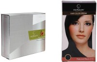 Oxyglow Papaya Facial Kit & Hair Colour Cream-Black (Set Of 2)