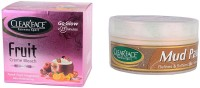 Clear Face Fruit Cream Bleach With Mud Pack 250 Gm (Set Of 2)