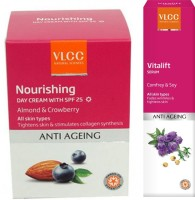 VLCC Nourshing Day Cream And Vitalift Serum (Set Of 2)