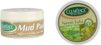 Clear Face Mud Pack Refines & Softness Skin Texture With Neem Tulsi Face Pack (Enriched With Aloevera) (Set Of 2)