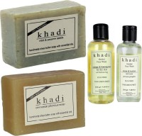 Khadi Natural Face Wash And Soap Combo(Sheabtter Cocoabutter) (Set Of 4)