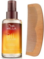 Wella Professionals Oil Reflection Smoothing Treatment Hair Serum With 19 Cm Wooden Comb (Set Of 1)