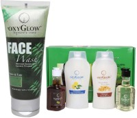 Oxyglow Neem & Tulsi Face Wash & Hair Spa Herbal Treatment Kit (Set Of 2)