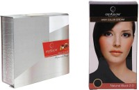 Oxyglow Kesar Fairness Glow Facial Kit & Hair Colour Cream-Black (Set Of 2)
